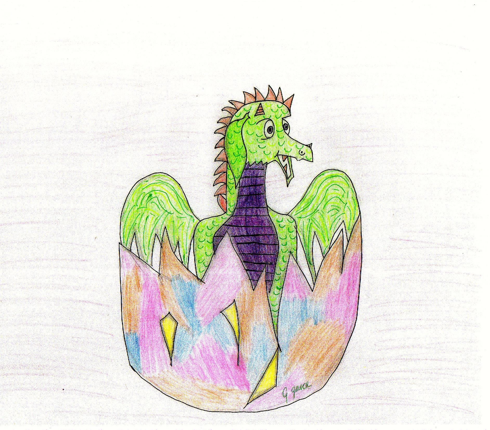 The Baby Dragon Hatching, by Georga Joy Garcia.