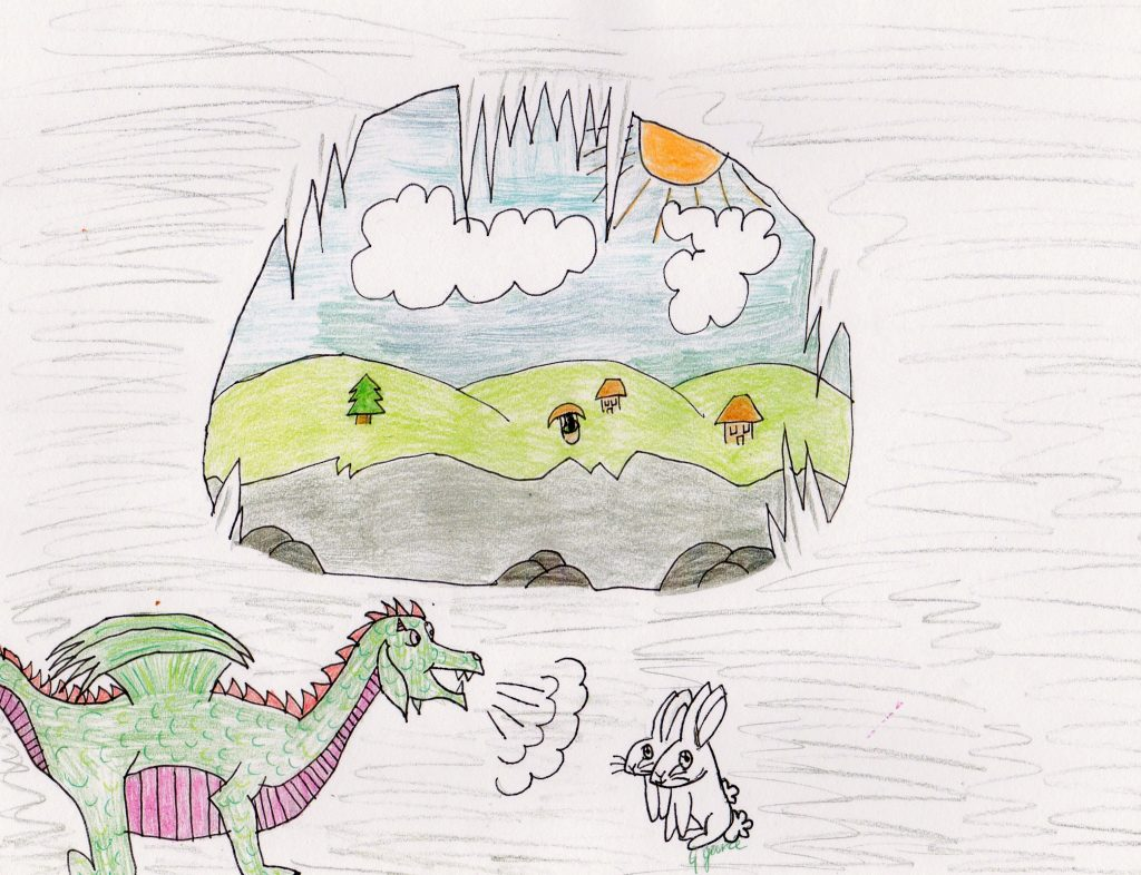 Melvin inside his Cave, by Georga Joy Garcia.